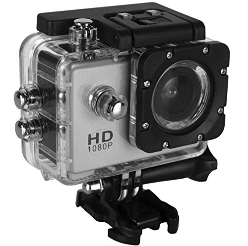 BIBENE 1080p 60fps Full HD 8MP Sport Camera with Great Build Quality, Waterproof 30m, 2.0-inch'' Screen Interface,140 Degree Wide-angle, Low-Light Mode and 1.5 Hours Using Time by BIBENE