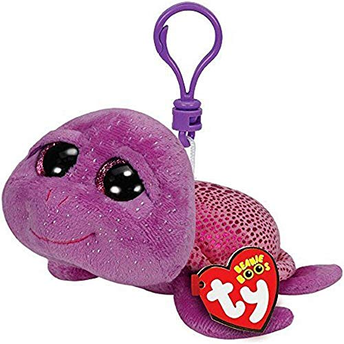 Ty Beanie Boos - Ty Beanie Boos 4 Quot 9cm Slowpoke The Turtle Clip Keychain Plush Stuffed Animal Collection Doll Toy - Easter River Raccoon Sloth Backpack Jewel Angel Elephant ()