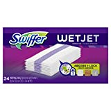 Swiffer WetJet Hardwood Floor, Wet Jet Spray Mop Pad Refills, Original Scent Refill Cloth, 24 Count