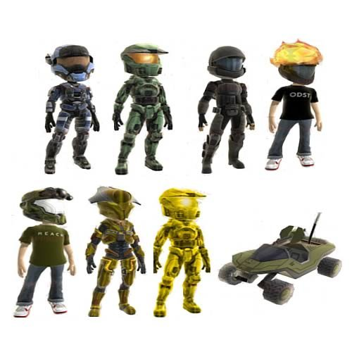 Halo Series 1 Xbox Live Avatar Mini Figures Random (Halo Reach Costumes)