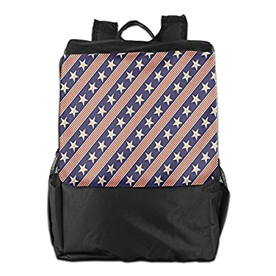 27f3f5db5b delicate Newfood Ss Patriotic Star Pattern In Diagonal Stripes National  Theme Outdoor Travel Backpack Bag For