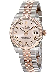 Rolex Datejust Pink Roman Dial Steel and 18kt Pink Gold Ladies Watch 178271PRJ