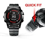 (US) GELISHI for Garmin Fenix 5x Band Replacement Stainless Steel Link Band Quick Fit for 26mm Garmin Fenix 5x Watch