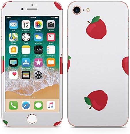 igsticker iPhone SE 2020 iPhone8 iPhone7 専用 スキンシール 全面スキンシール フル 背面 側面 正面 液晶 ステッカー 保護シール 012729 リンゴ 果物 マーク