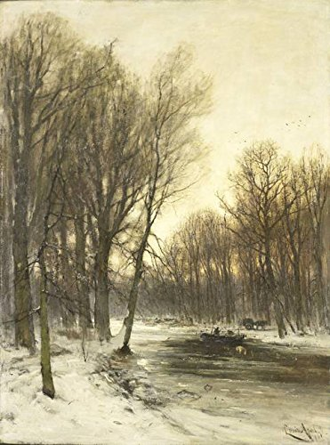 Amazoncom Wall Art Print Entitled An Afternoon View Of Snowy Woods