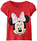 Disney Little Girls' Toddler Minnie Mouse T-Shirt, Red Cherry, 2T