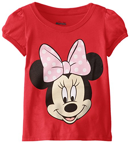 Disney Shirts For Girls (Disney Little Girls' Toddler Minnie Mouse T-Shirt, Red Cherry, 5T)