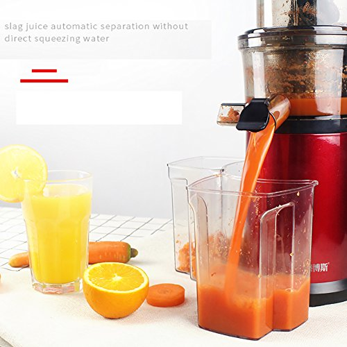 DULPLAY Quiet Slow Speed Masticating juicer,Healthy Fruit and Vegetable 180-watt,Bpa Free Metallic Juicer Machine -red 45x15x17cm(18x6x7inch) by DULPLAY (Image #4)