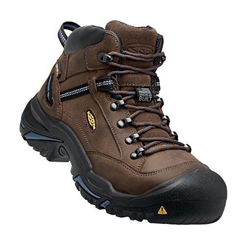 (KEEN Utility - Men's Braddock Mid (Steel Toe) Waterproof Work Boot, Bison/Ensign Blue, 10 EE)