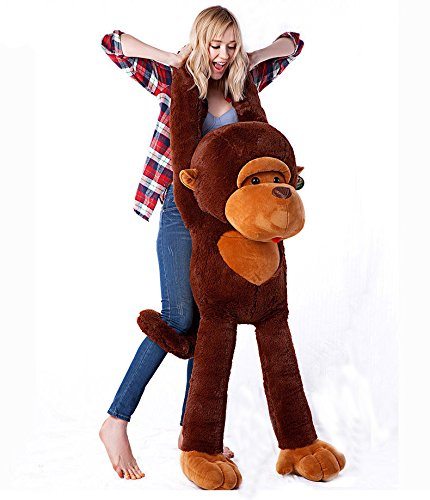 lightningstore-130cm-giant-huge-large-big-stuffed-soft-plush-brown-monkey-bear-doll-plush-toy