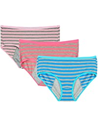 Women Cotton Menstrual Period Briefs Sanitary Leak-Proof Panties(3 Pack)
