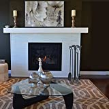 Panacea 15001 Wrought Iron Fireplace Toolset, Black