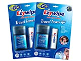Ezywipe – Travel Kit Compressed Cleansing Towel – SMALL – Tube Qty 12 Towels w/water sprayer (Pack of 2) (Hypo-allergenic, Portable Cooling Disposable Reusable Biodegradable outdoor, refresh, wipe) For Sale