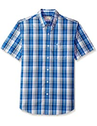 Men's Comfort Stretch Soft No Wrinkle Short Sleeve Button...