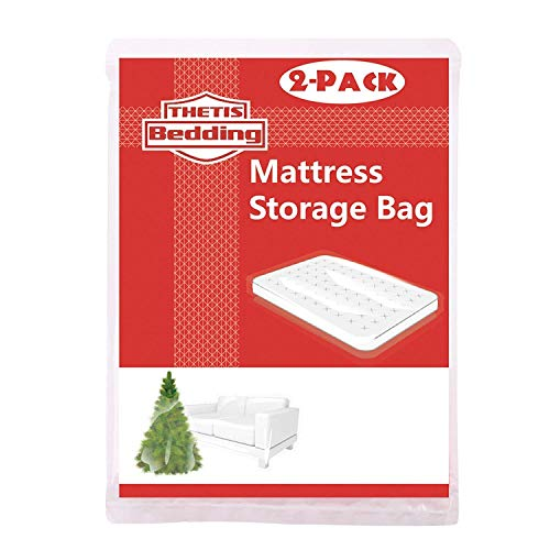 THETIS Homes (2 Pack Mattress Bag for Moving and Storage, Queen Size for Full, Full XL, and Queen, 76x96 inch
