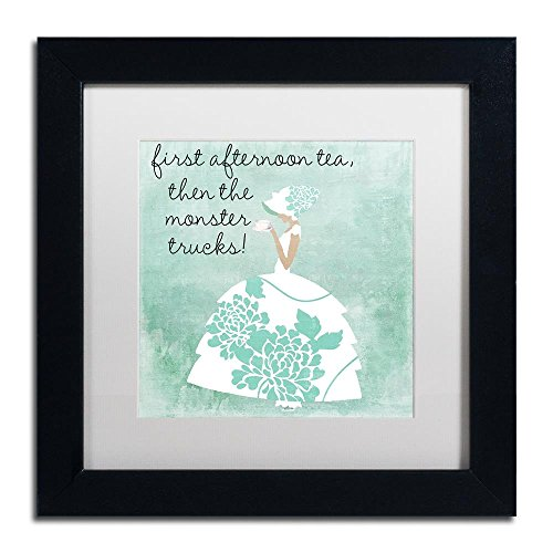- Southern Belles One by Color Bakery, White Matte, Black Frame 11x11-Inch