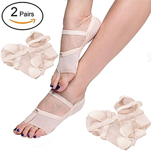 2 Full Toe Pairs Dance Lyrical Thongs Pad Half Paws Undies Foot Shoes wxvv0IqP1