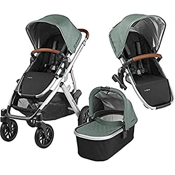 2018 UPPABaby VISTA Stroller - Jordan (Charcoal Melange/Silver/Black Leather) + RumbleSeat- Jordan (Charcoal Melange/Silver/Black Leather) 0318-VIS-US-JOR/0918-RBS-US-JOR
