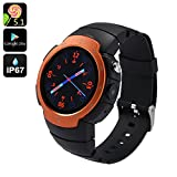 Generic Z9 - IP67 Waterproof 3G Android 5.1 Phone Watch with 1.33 Inch Screen, 5MP Camera, Heart Rate Monitor - Orange