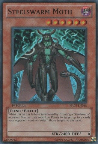 Yu-Gi-Oh! - Steelswarm Moth (HA05-EN048) - Hidden Arsenal 5 - 1st Edition - Super Rare