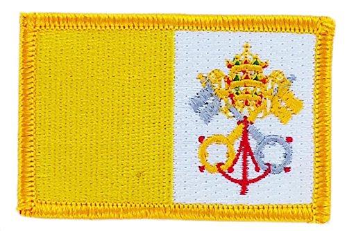 Aufnäher zum Aufbügeln, bestickt mit der Flagge vom Vatikan