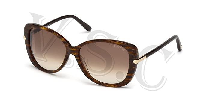 d439727aaf9e8 Image Unavailable. Image not available for. Colour  Tom Ford Linda Tf324  Sunglasses Ft 324 Butterfly ...