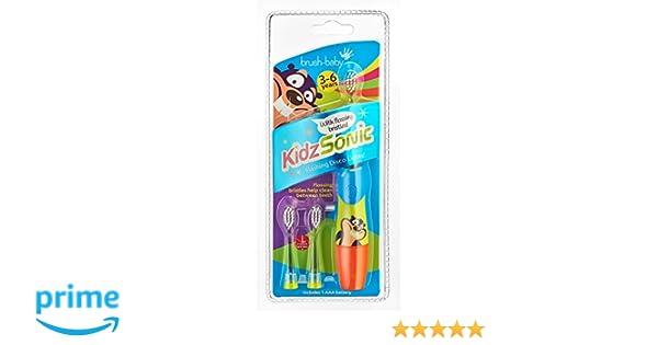 Brush Baby Blue Kidz Sonic - Cepillo de dientes eléctrico para niños, color azul: Amazon.es: Salud y cuidado personal