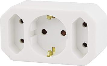 3-fach Euro Stecker Adapter Steckdose 3x Verteiler Schutzkontakt Stromverteiler