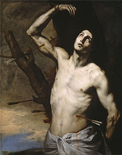 [Polyster Canvas ,the Replica Art DecorativeCanvas Prints Of Oil Painting 'Ribera Jose De Saint Sebastian 1636 ', 10 X 13 Inch / 25 X 32 Cm Is Best For Bathroom Decoration And Home Decoration And] (Duckbill Costume Pattern)