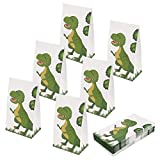 Aresmer Dinosaur Party Bags Favors Bags for Kids Boys and Girls Birthday, Pack of 24