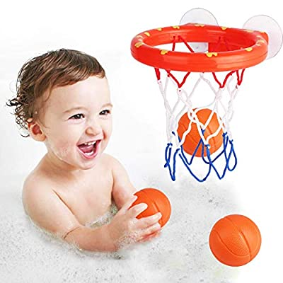 DUOUH Bath Toy Fun Basketball Hoop & Balls Set for Boys and Girls Kid & Toddler Bath Toys Gift Set: Home & Kitchen