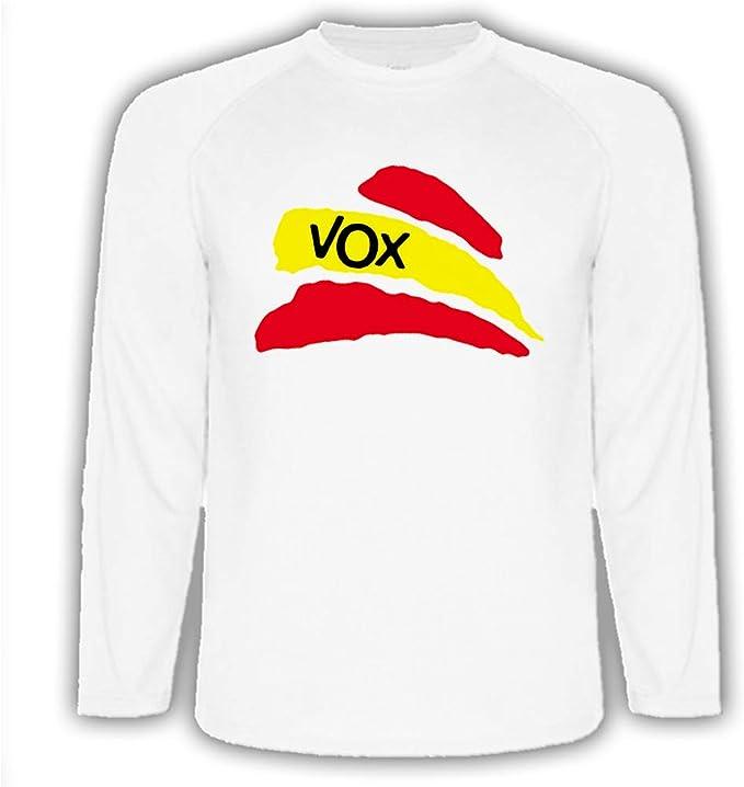 Camiseta Manga Larga Bandera ESPAÑA Partido VOX Tshirt ...