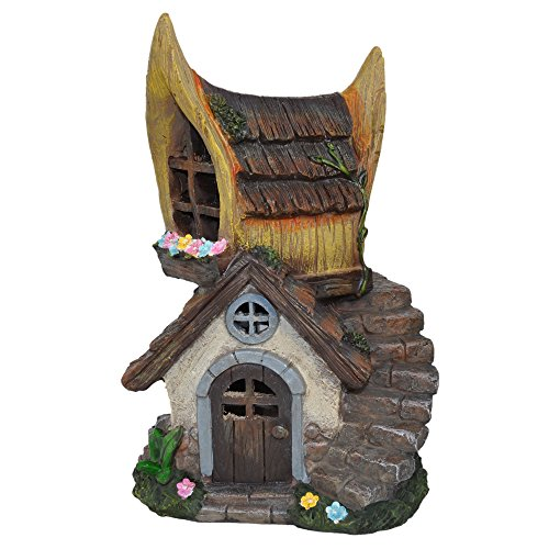 Miniature Garden Chalet Solar Fairy House by Gift Craft