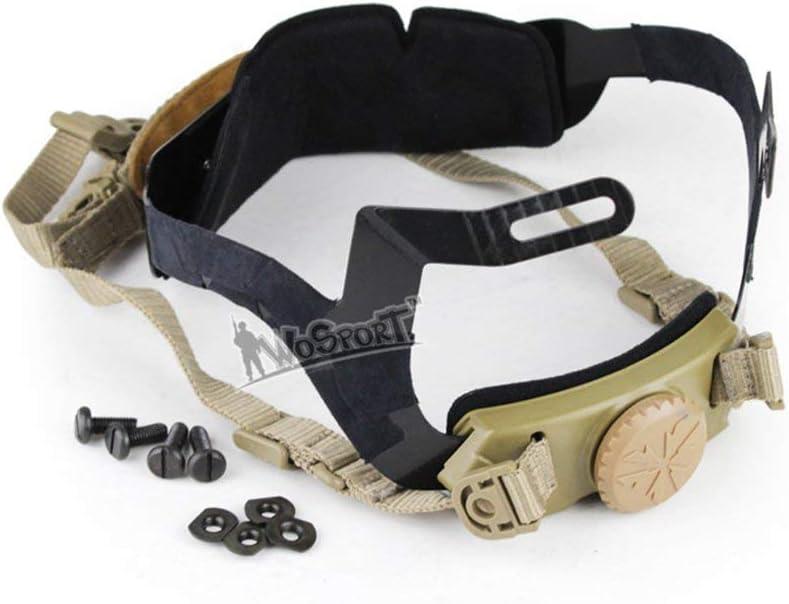 Will Outdoor Casco R/ÁPIDO Hebilla Avanzada Bloqueo Ajustable ment/ón Sistema de suspensi/ón de Plomo Sistema de suspensi/ón Piezas de Repuesto para Casco Helmet