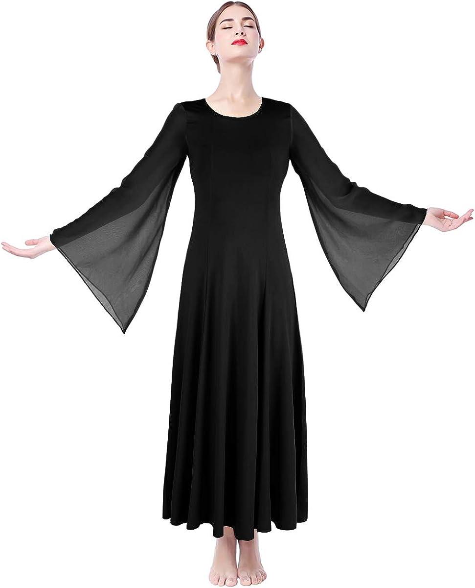 FYMNSI Women Lyrical Praise Dance Dress