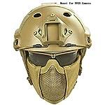 WLXW Jeu De 3 Casques De Casque Tactique Rapide - Masque de Maillage en Acier À Demi-Masque - Ensemble de Lunettes de… 8