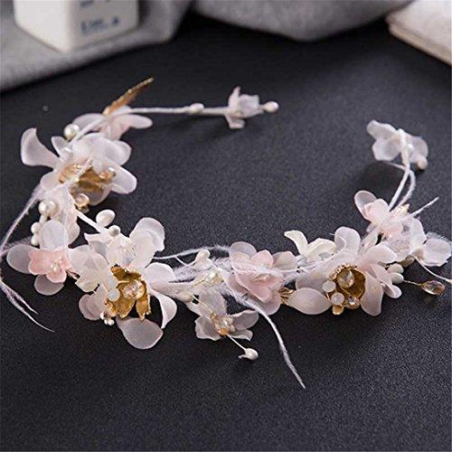 Romantic Wedding Tiaras Veil Feather Bridal Hair Accessories