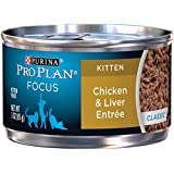 Purina Pro Plan Wet Cat Food, Focus, Kitten Chicken and Liver Entre, 3-Ounce Can, Pack of 24