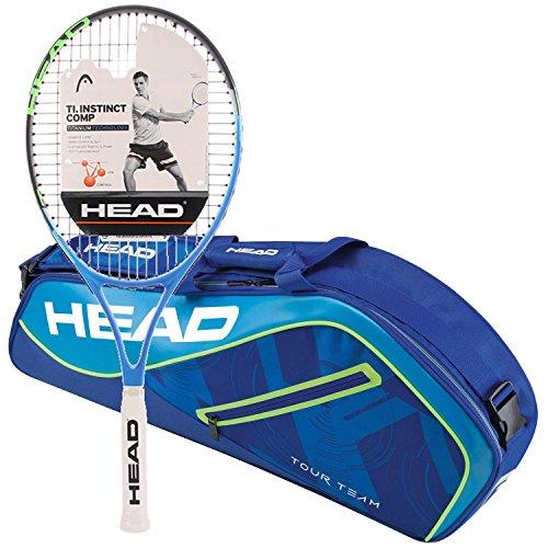 Amazon.com : HEAD Ti.Instinct Comp Pre-Strung Tennis Racquet Bundled with a Tour Team Tennis Bag : Sports & Outdoors