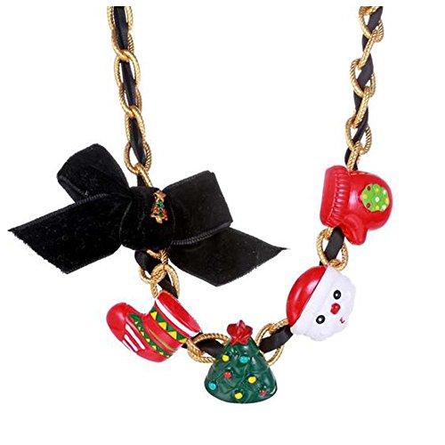 [GERGER BO Christmas Elements Pendant Necklace] (Gumdrop Fairy Costume)