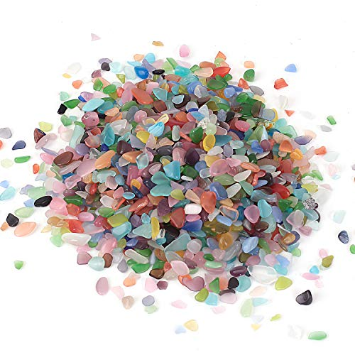 Shiny Stone Natural Opal Crystal Aquarium Gravel Rocks Stones, Decorative Crystal for Fish Tank Aquarium Home Garden Succulent Gifts Decoration (Opal, 5-8mm)