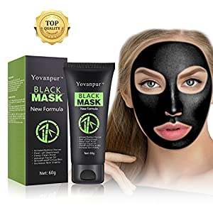 Yovanpur Blackhead Peel Off Mask, Face Mask, Blackhead Remover Mask Black Mask Deep Cleaing Facial Mask for Face Nose 60g