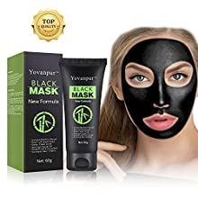 Note: Please DO NOT use black mask on Sensitive or Wounded skin. Please apply Yovanpur blackhead mask on Nose Area/T-Zone/Small facial area to test allergy reaction before applying it on full face.Are you tired of the blackheads, acne, whiteh...