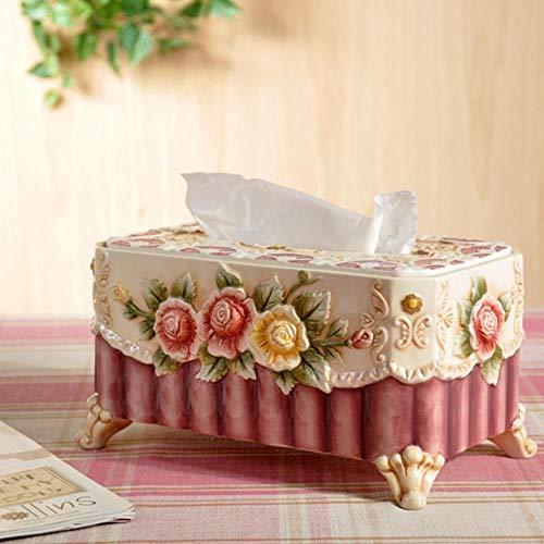 niawmwdt Caja De Panuelos De Ceramica De Estilo Victoriano Europeo Bandeja De Artesania Grande Bandeja De Juego De Te Mesa De Comedor Decoracion De La Sala De Estar En El Hogar Multic