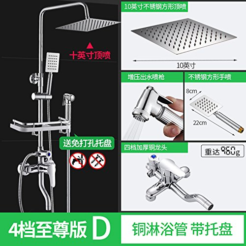 Fourth Gear Extreme C NewBorn Faucet Kitchen Or Bathroom Sink Mixer Tap Rain Shower Set Full Copper Hot And Cold Taps Common Sprinkler Hose Pressure Switch Water Heater Water Mixing Valve Holding A Fourth Gear Extreme B