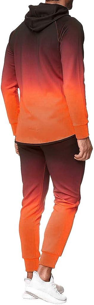 Strungten Herren Jogging Anzug M/änner Sweatshirt Hose Sets Herbst Winter Hoodie Sport Casual Strickjacke Modisch Klassisch Trainingsanzug Baumwolle Kapuzenjacke Set Fr/ühling Sportanzug Jogginghose