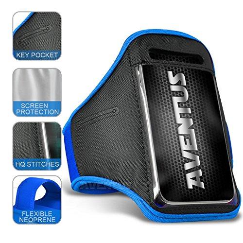Aventus Xiaomi Redmi 2 Prime (Baby Blau) Voll einstellbare Leicht Hulle Armband-Halter-Kasten-Abdeckung Running, Walking, Radfahren, Fitnessraum und andere Sportarten Baby Blau