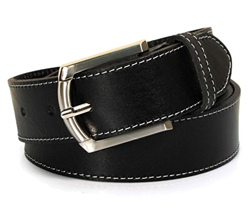 (CA2-119) Mens Belt 100% Real Leather Black, Brown, White Size 28~42