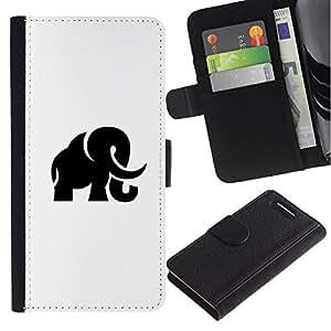 All Phone Most Case / Oferta Especial Cáscara Funda de cuero Monedero Cubierta de proteccion Caso / Wallet Case for Sony Xperia Z1 Compact D5503 // Mammoth Haunt