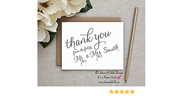 Hashtag Thank You Cards  Bridal Shower Thank You Notes  Personalized Wedding Thank You Cards  Social Media Stationery